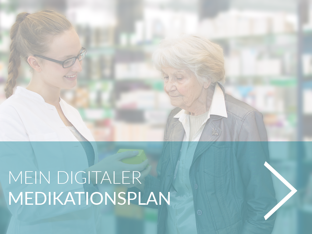 Medikationsplan oder Medikamentierung im Gesundheitsportal und Gesundheitstresor