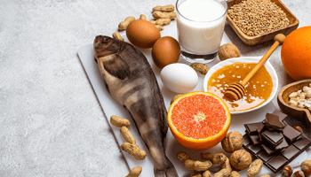 Lebensmittelallergie Folgen Fisch Obst Gemüse