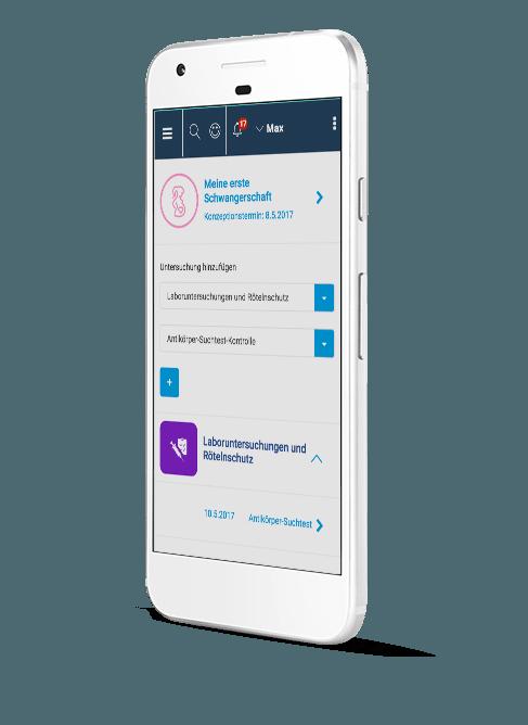 Digitaler Mutterpass im Gesundheitsmanager