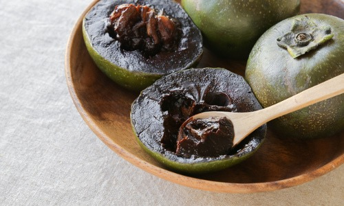 Die schwarze Sapote ist auch als Schokoladenpuddingfrucht bekannt.