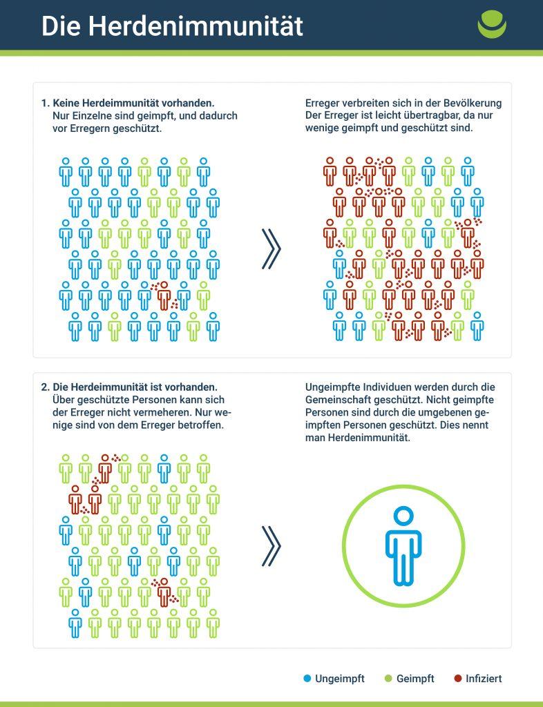 Graphik zur Herdenimmunität Impfungen
