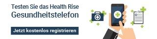 Testen Sie das Health Rise Gesundheitstelefon.