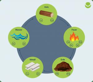 Shiatsu - Die Wandlungsphasen der 5 Elemente