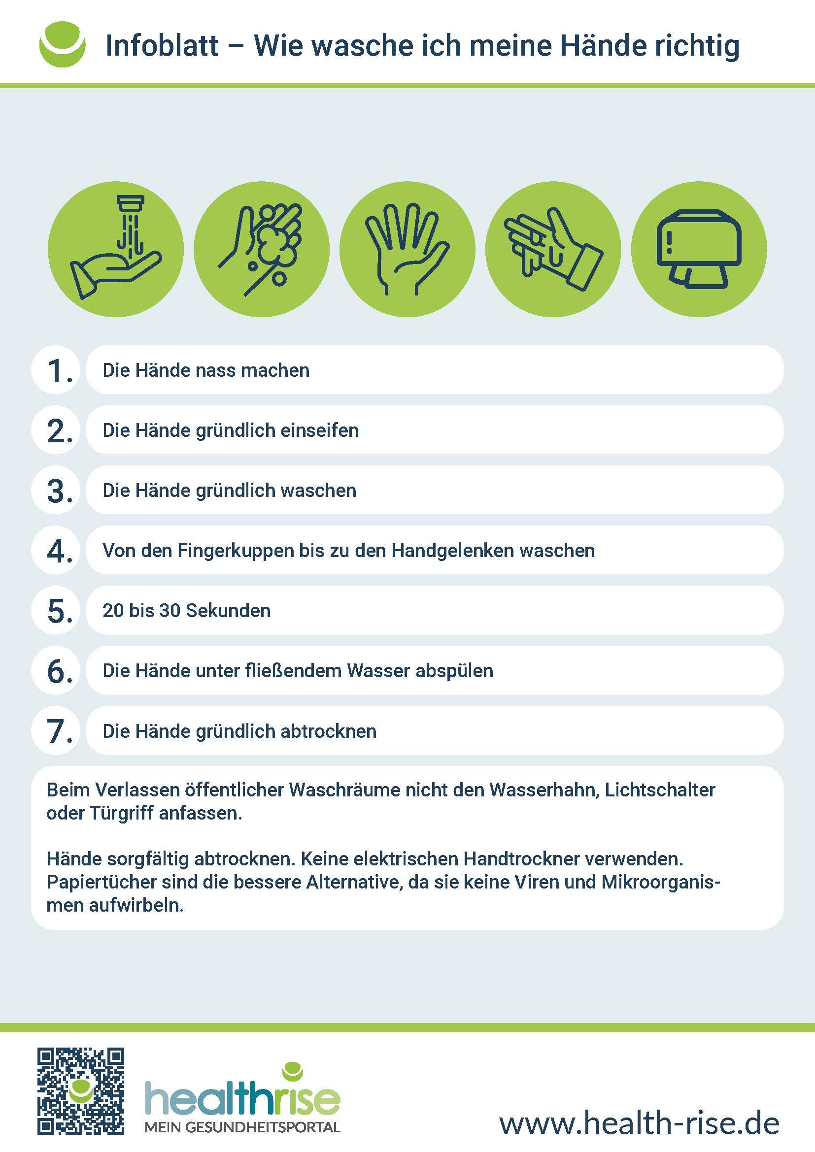 Toiletten-Aushang Händewaschen Infografik PDF