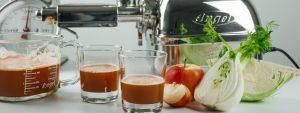 Fenchel Apfel und Karotten Saft