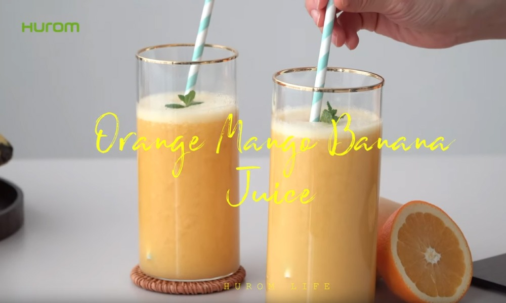 Orangen-Mango-Bananen-Saft