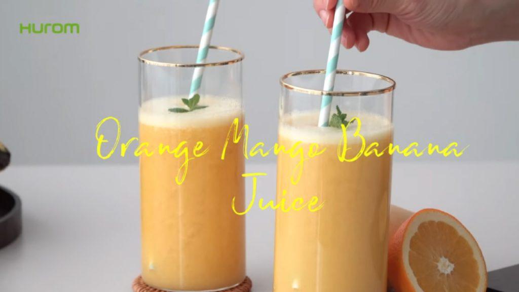 Orangen mango bananen Saft