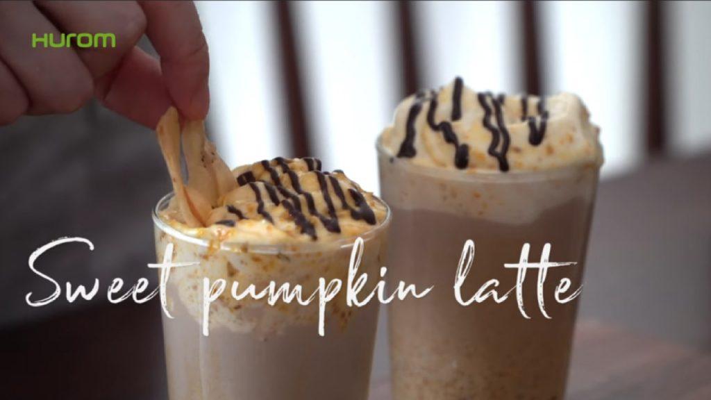 Süßer Kürbis Latte