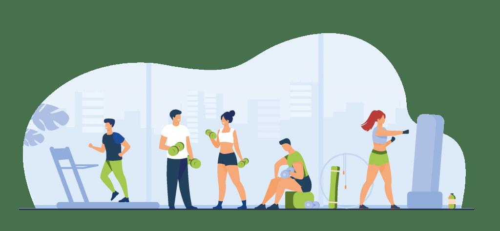 Mangelbewegung durch ein Fitnessstudio vorbeugen