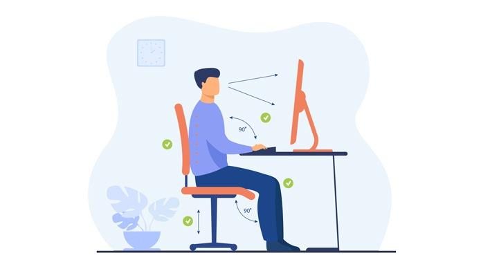 Auch im Homeoffice sollte der Arbeitsplatz ergonomisch gestaltet sein