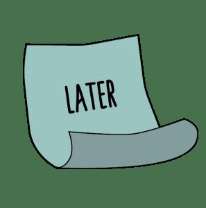 Prokrastination – auf später verschieben