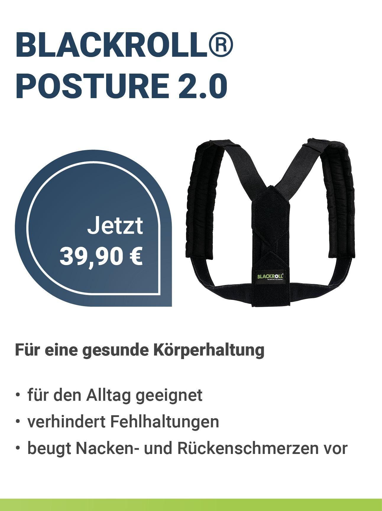 BLACKROLL® POSTURE 2.0 - Rückengurt zur Haltungskorrektur