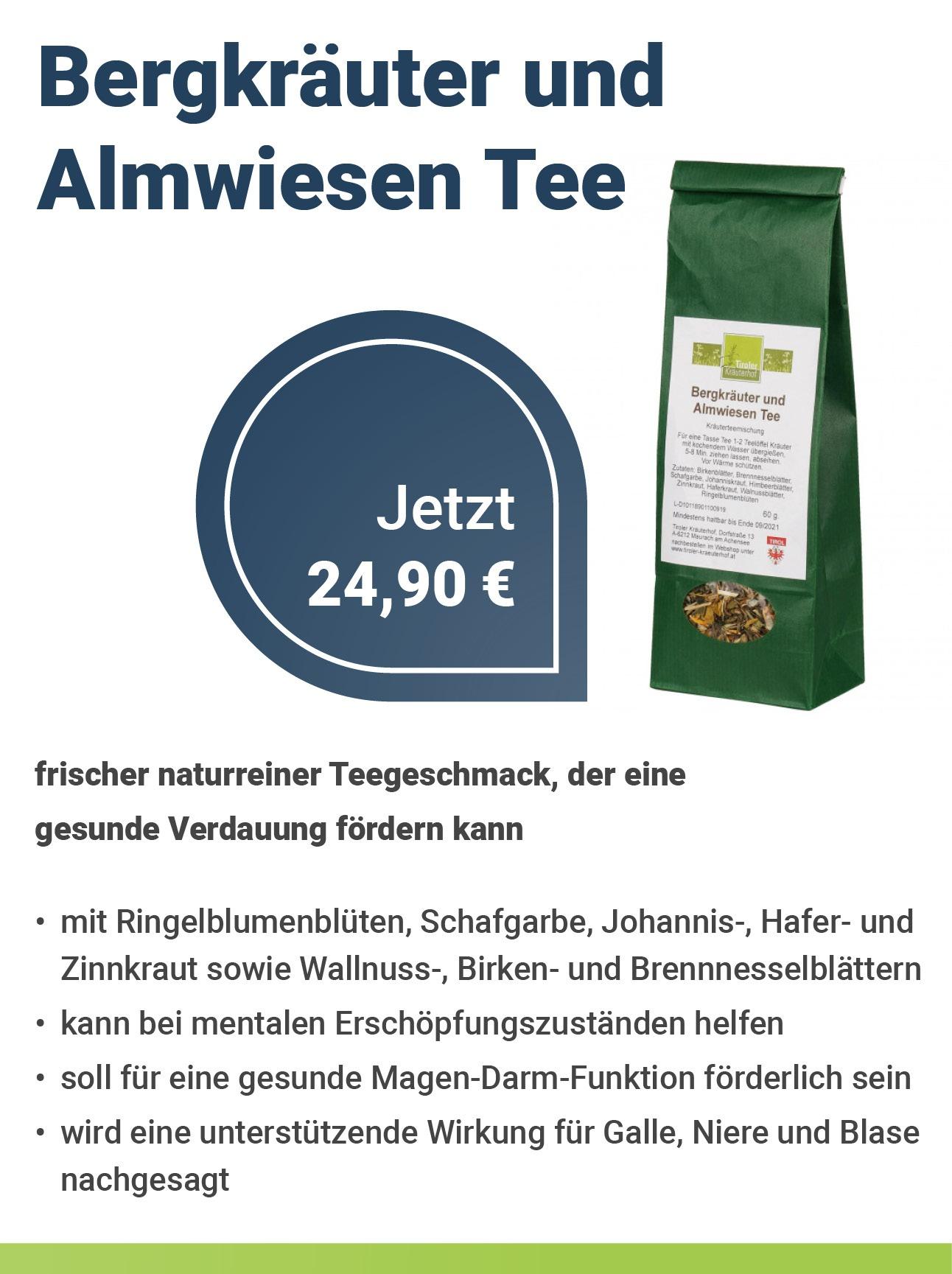 Tiroler Kräuterhof Bergkräuter und Almwiesen Tee