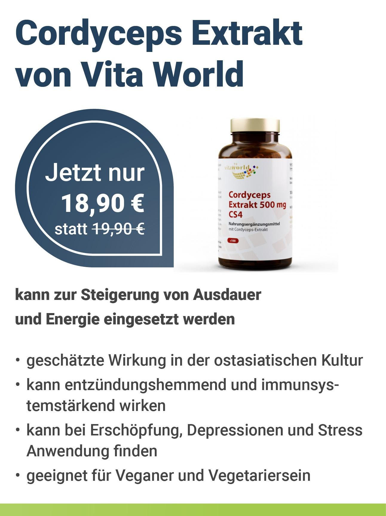 Cordyceps Extrakt von Vita World